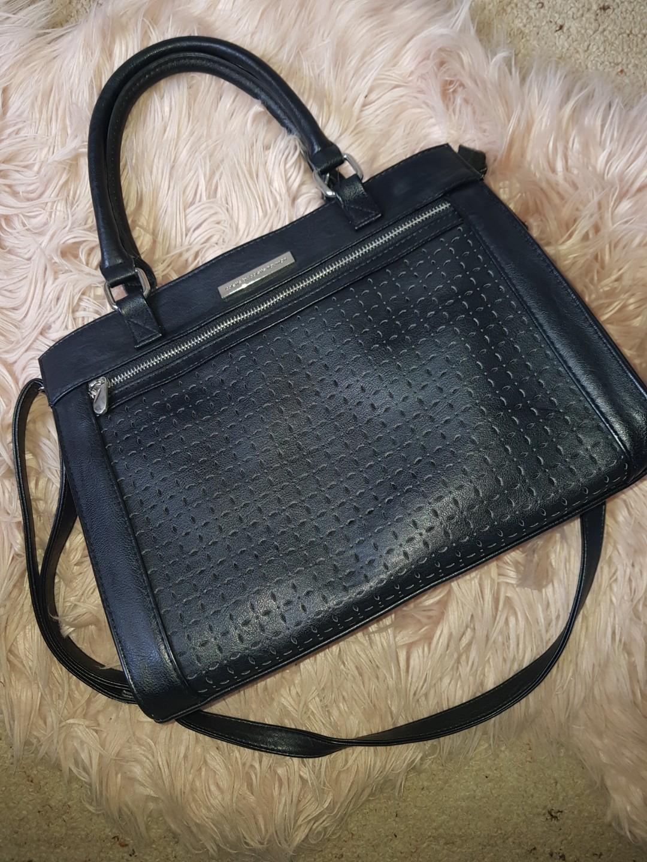 Colette Black Tote Handbag w/ shoulder strap