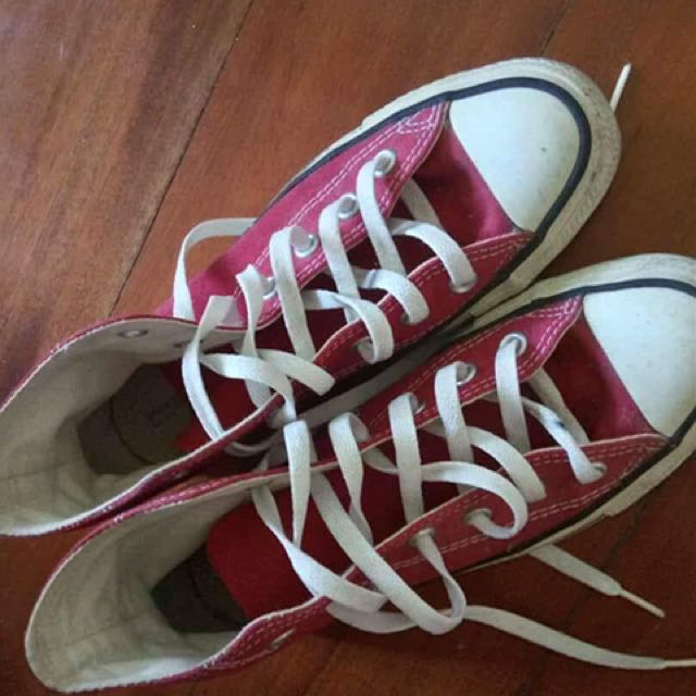 Converse Red Hightops