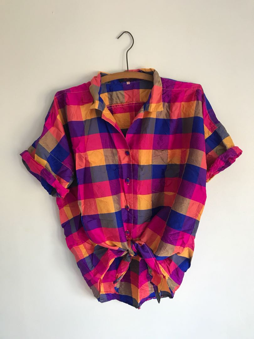 Coolest multicoloured silk shirt