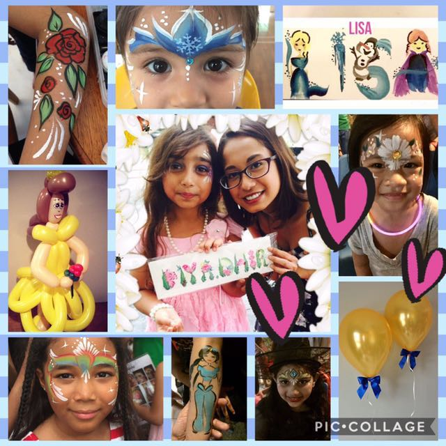 Disney Princess Birthday Party Face Painting And Balloon Twisting