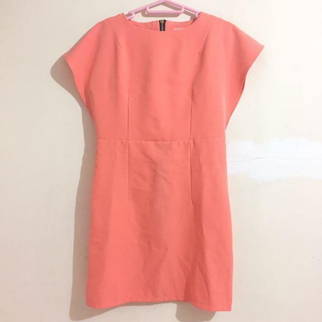 Dress Peach Batwing (Harga Nego)