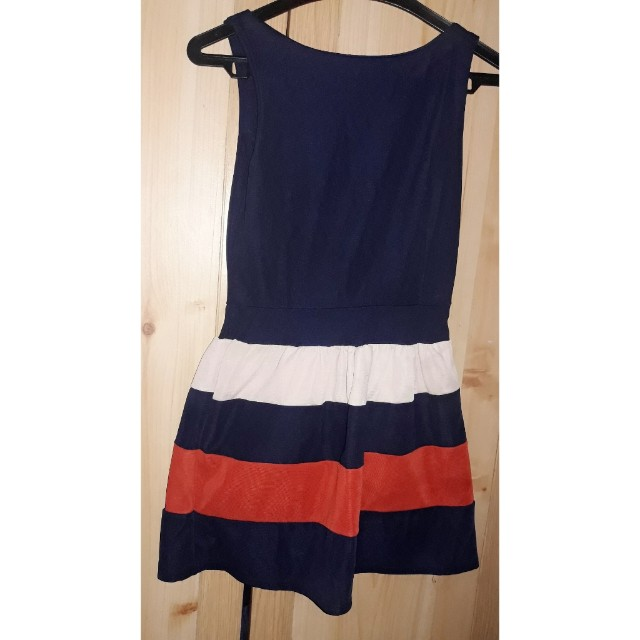 Dress wafel navy