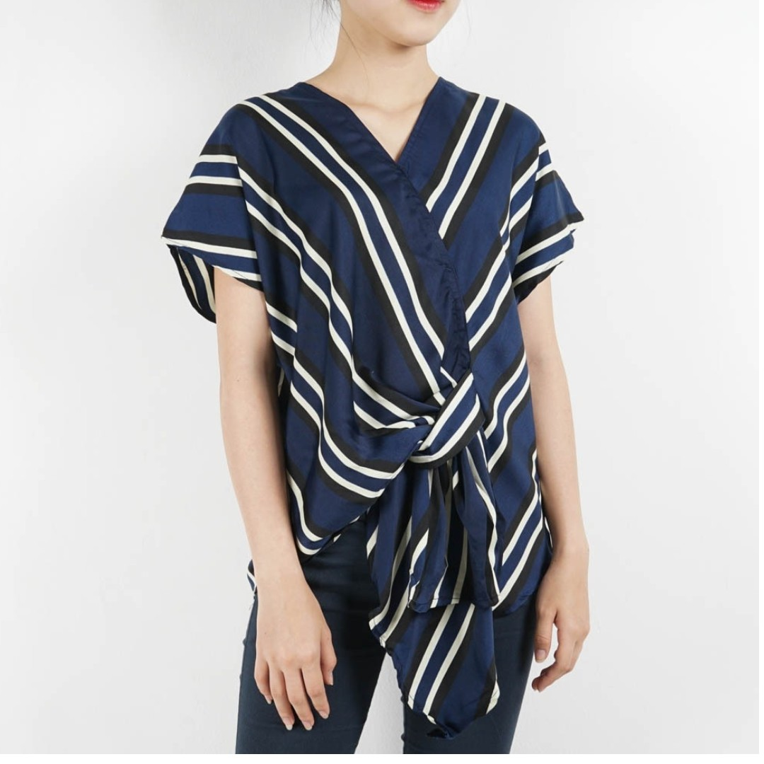 elga stripe blouse