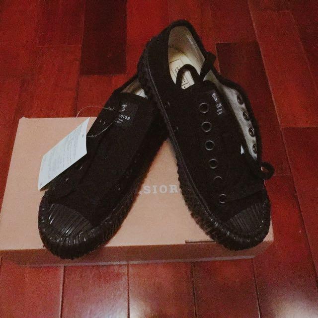 EXCELSIOR 韓國全黑餅乾鞋