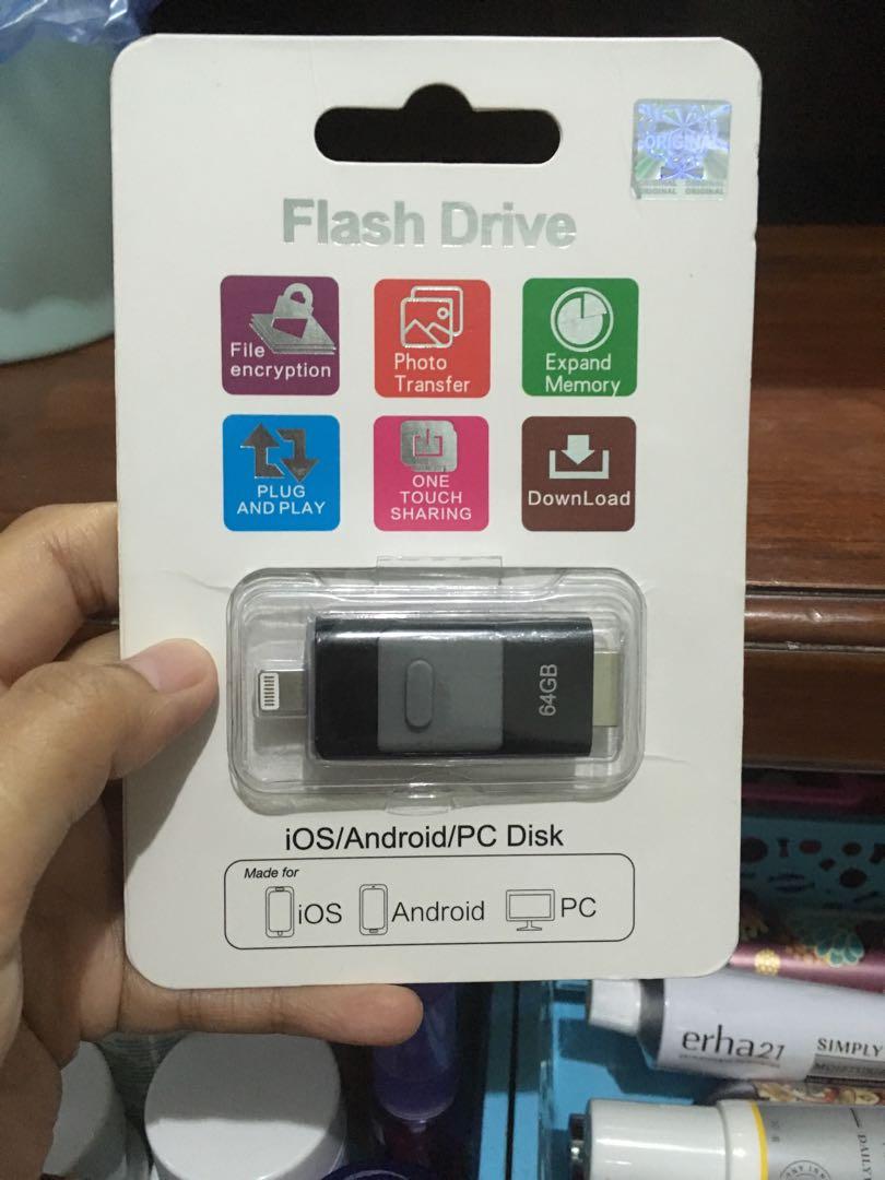 Flashdrive ios, android dan pc 64gb