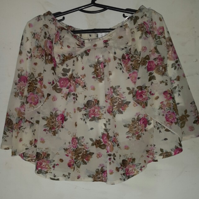 Floral Chiffon Skirt with Inner Shorts