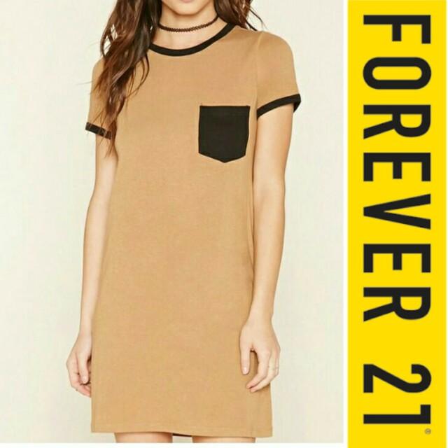 Forever 21 Pocket Ringer T-shirt Dress M-L NWT