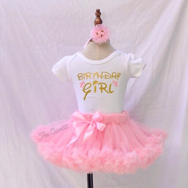 Full cut light pink Pettiskirt | Customized onesie | softband