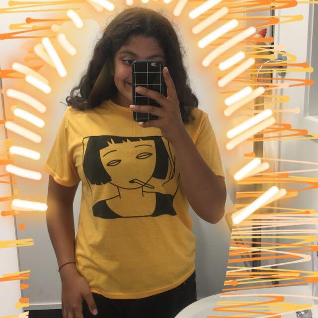 Girl print ginger tee