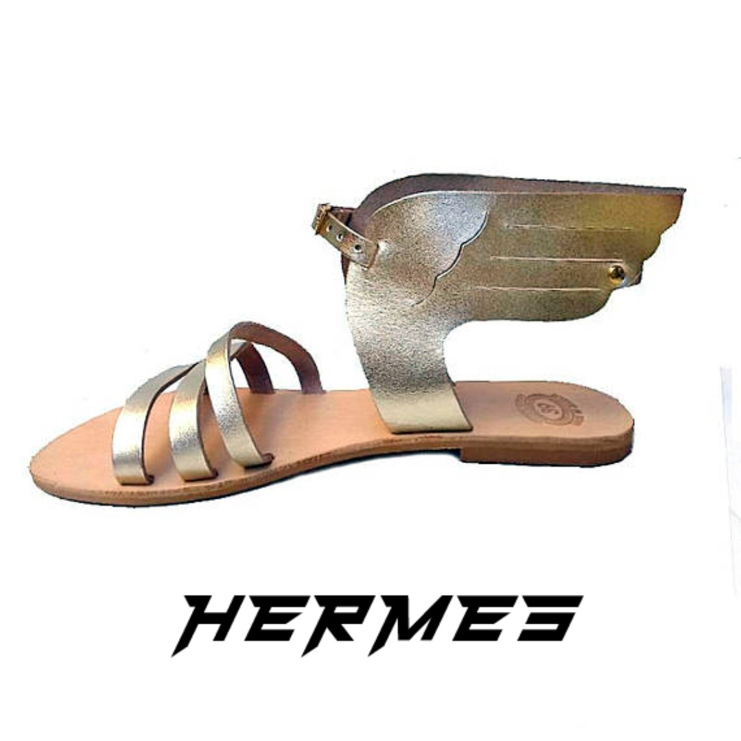 b4c6256f1502 Greek leather sandals - The Hermes
