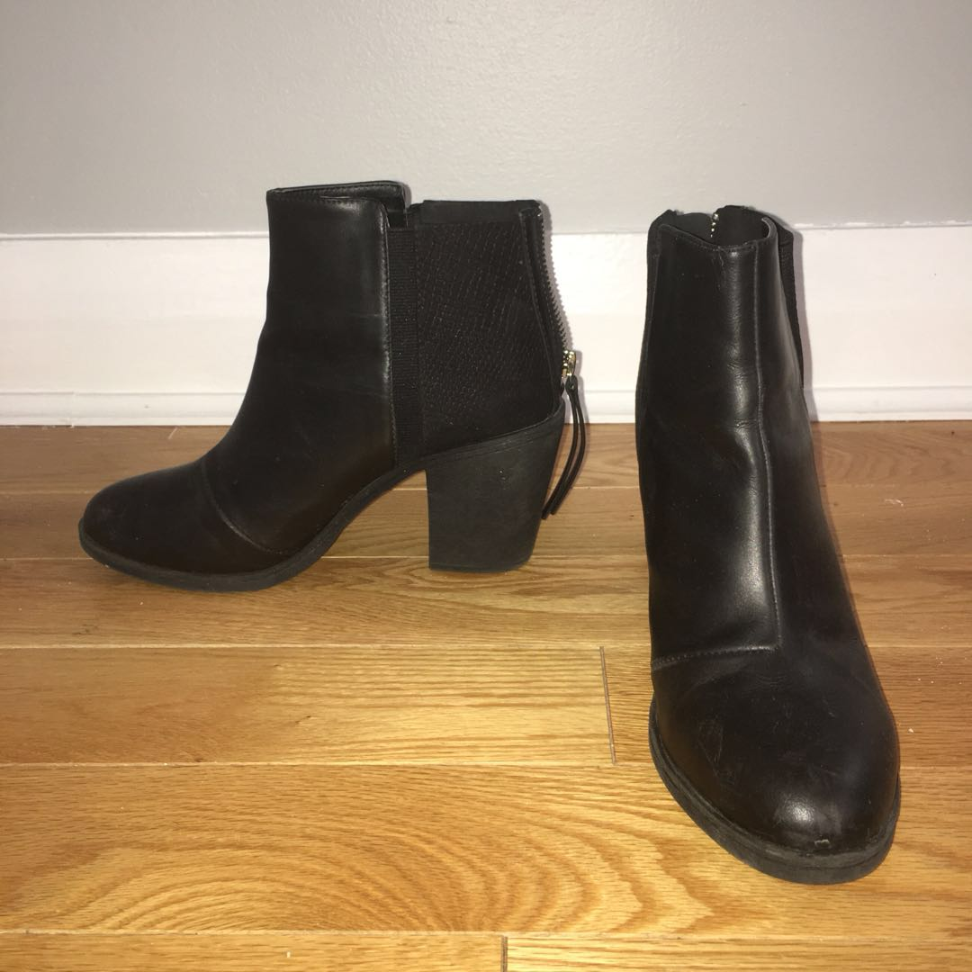 H&M Divided Leather Booties size 39