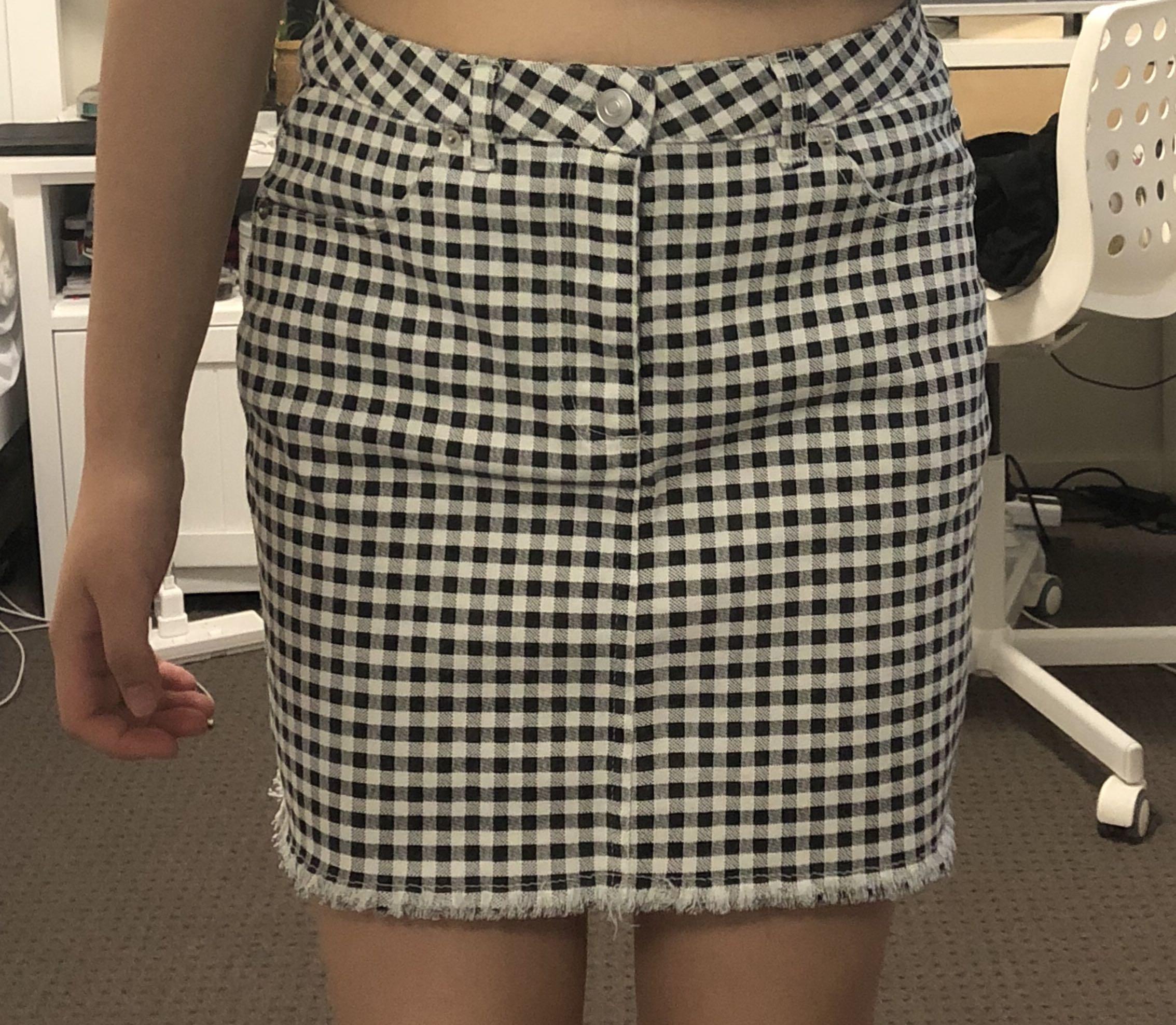 H&M Gingham Skirt