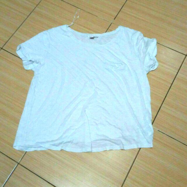 H&M kaos putih