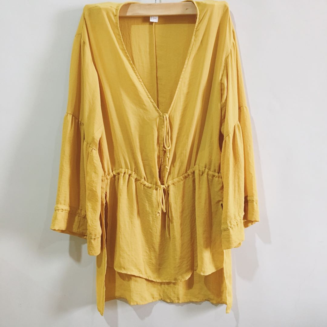 H&M YELLOW SUMMER TOP