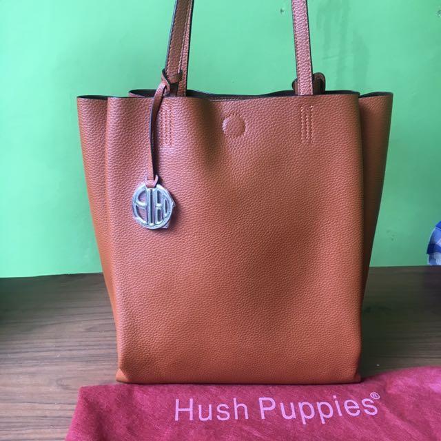 Hush puppies original totte bag soft brown