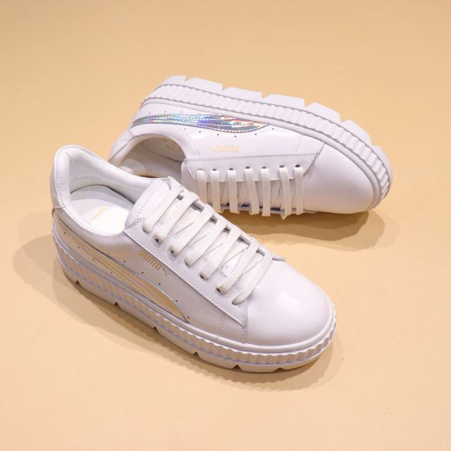 factory authentic 02814 cfe86 ihanna x Puma Fenty Cleated Creeper 'White/Silver'
