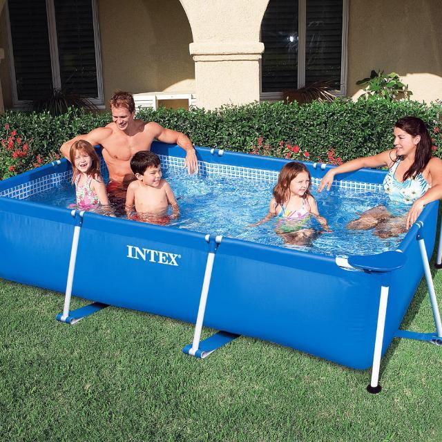 Intex 260M x 160M x 65cm Rectangular Metal Frame Swimming Pool For Small Family