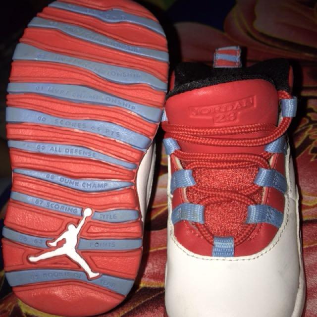 size 40 4990a cbc39 Jordan 10 x white red light blue