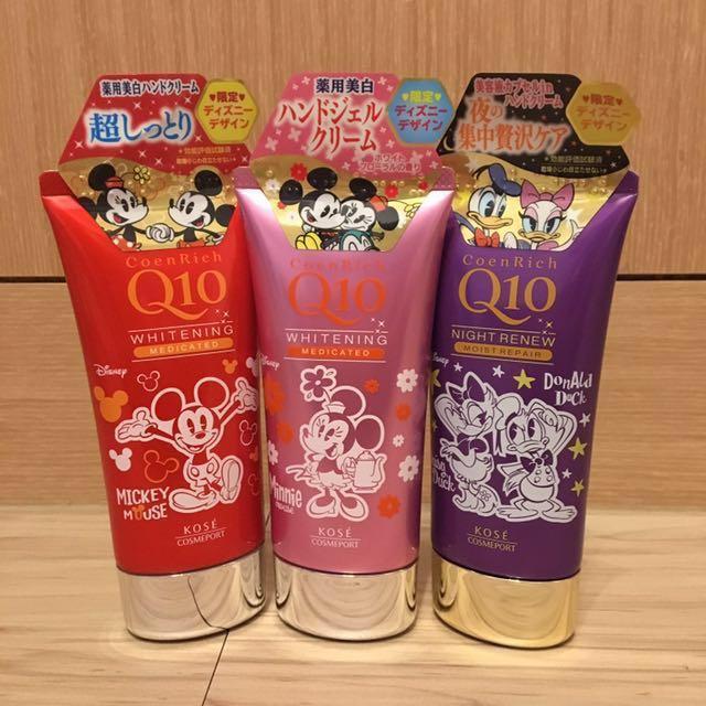 現貨迪士尼限定款-日本KOSE高絲迪士尼聯名款Q10護手霜,80g