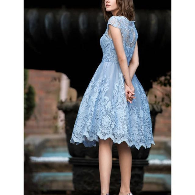 Lace Midi Prom Dress (2 Available)
