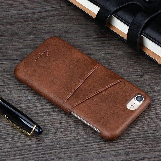 Leather Case Card Slot Casing Kulit Iphone 6 7 8-Plus X Ten
