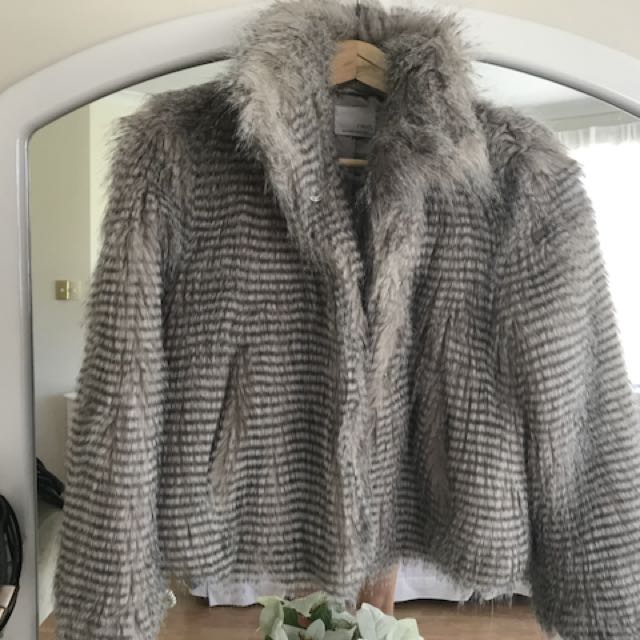 Light Grey Faux Fur jacket