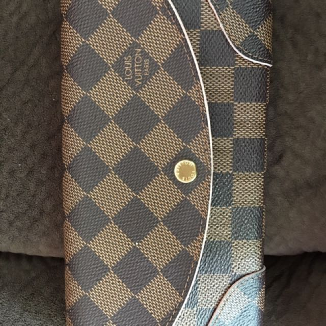 Louis Vuitton Damier Canvas Caissa Wallet Rose Ballerine