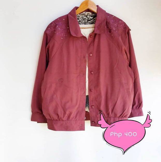 M02 Maroon soft wool Jacket
