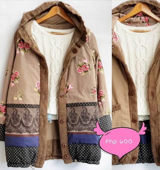 M44 Reversible brown floral jacket