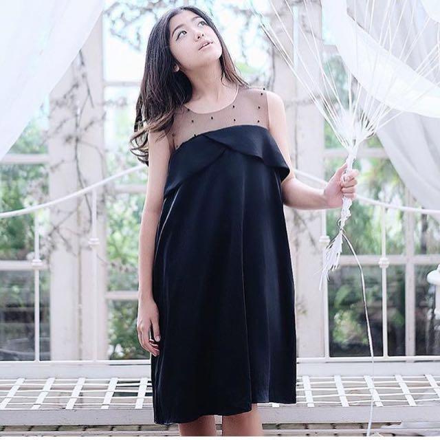 Marilyn things - Black Satin Dress