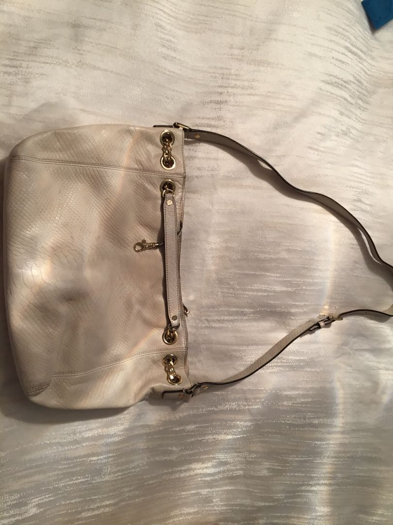 Michael Kors cream leather bag