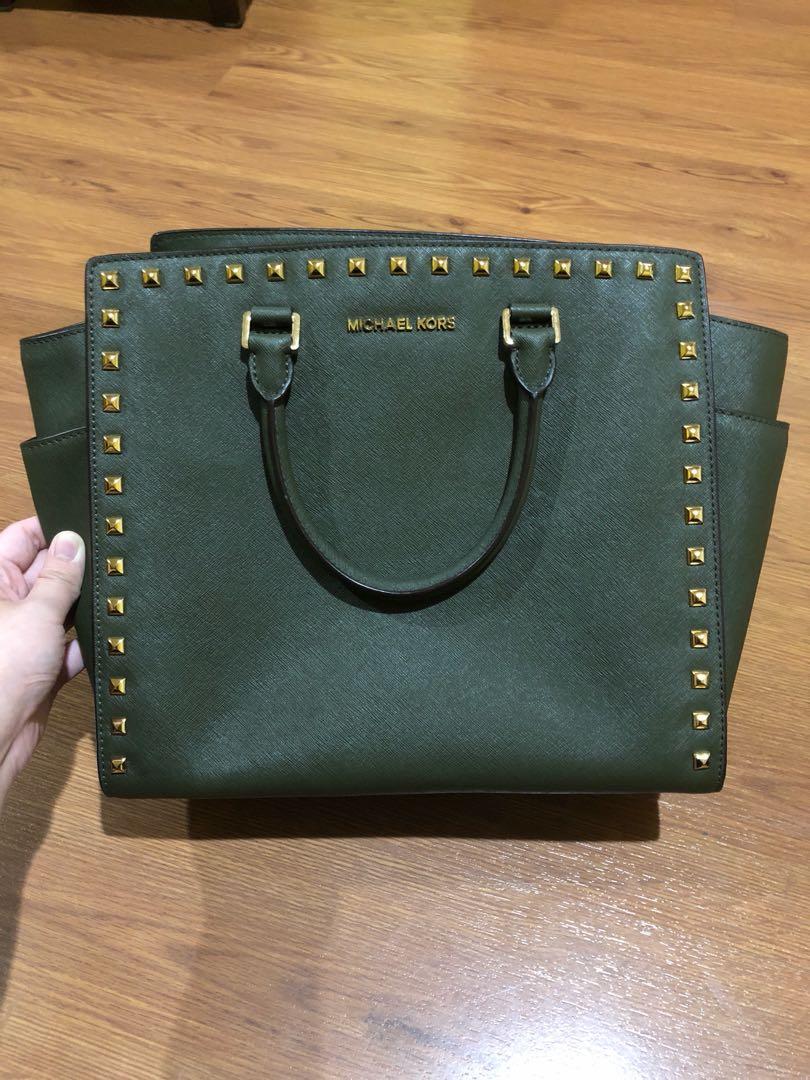 Michael Kors Sandrine Large Stud Tote Bag