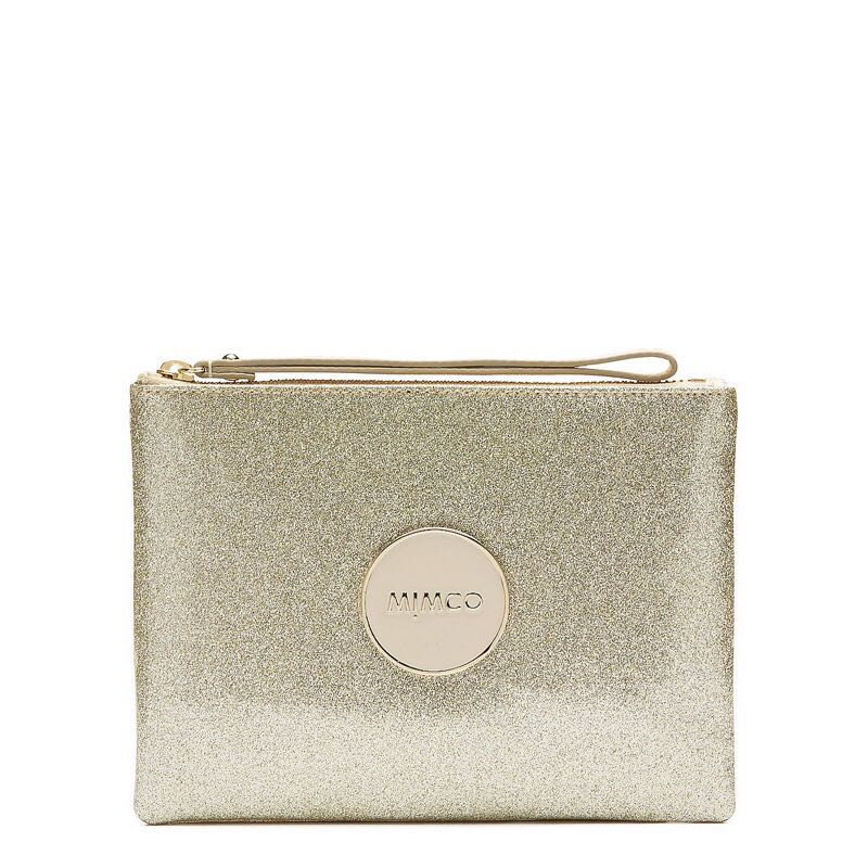 Mimco Medium Shimmer Pouch Gold