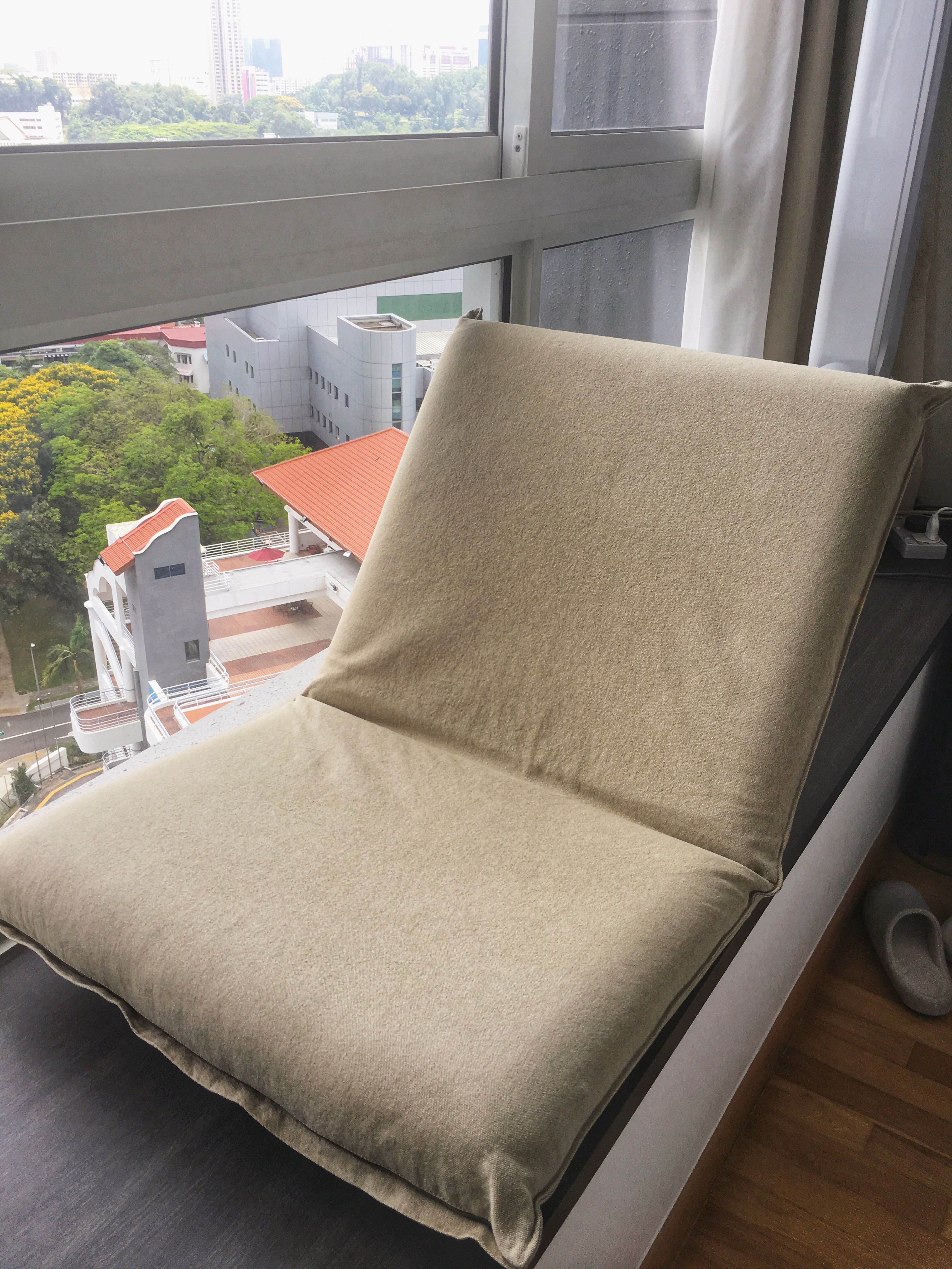 Muji Large Floor Chair Beige Cover Furniture Tables Chairs On Carou