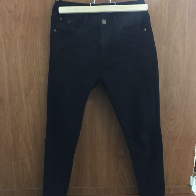 ⛄️MumuShop 新款短版黑褲 S號