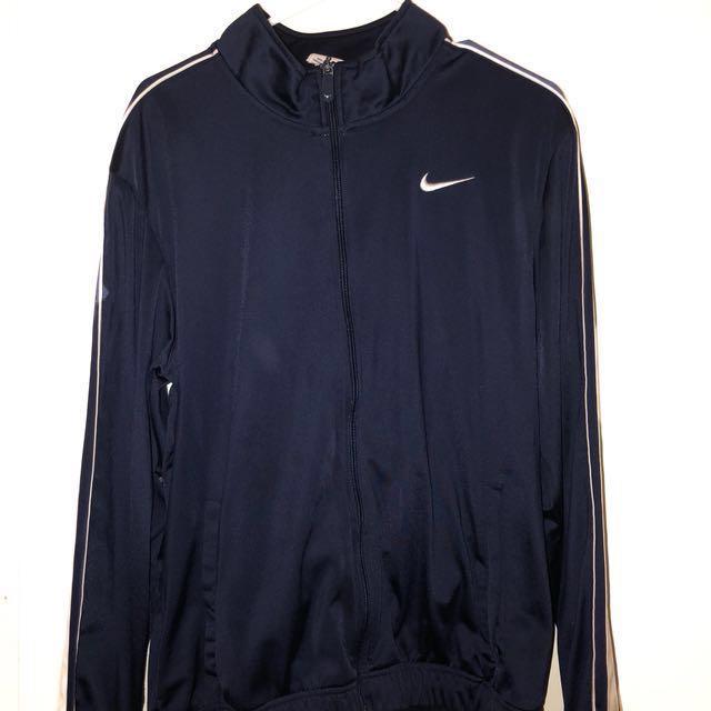 Navy Blue Nike Zip Up