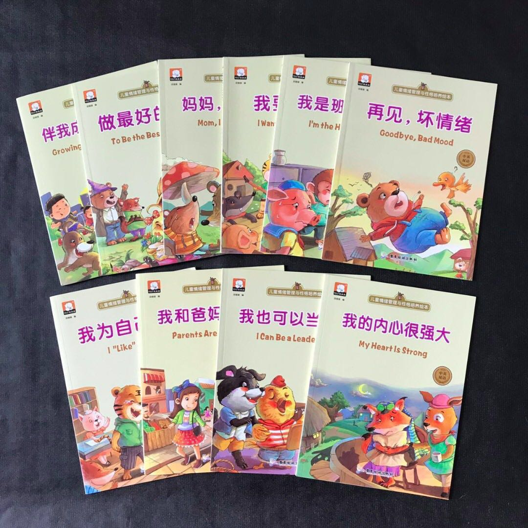💥NEW - Bilingual - Set of 10 - English Mandarin Dual