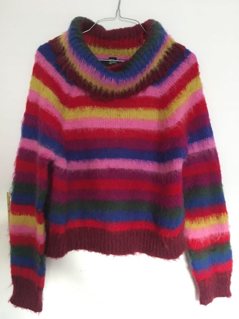 NEW Fuzzy Rainbow Sweater