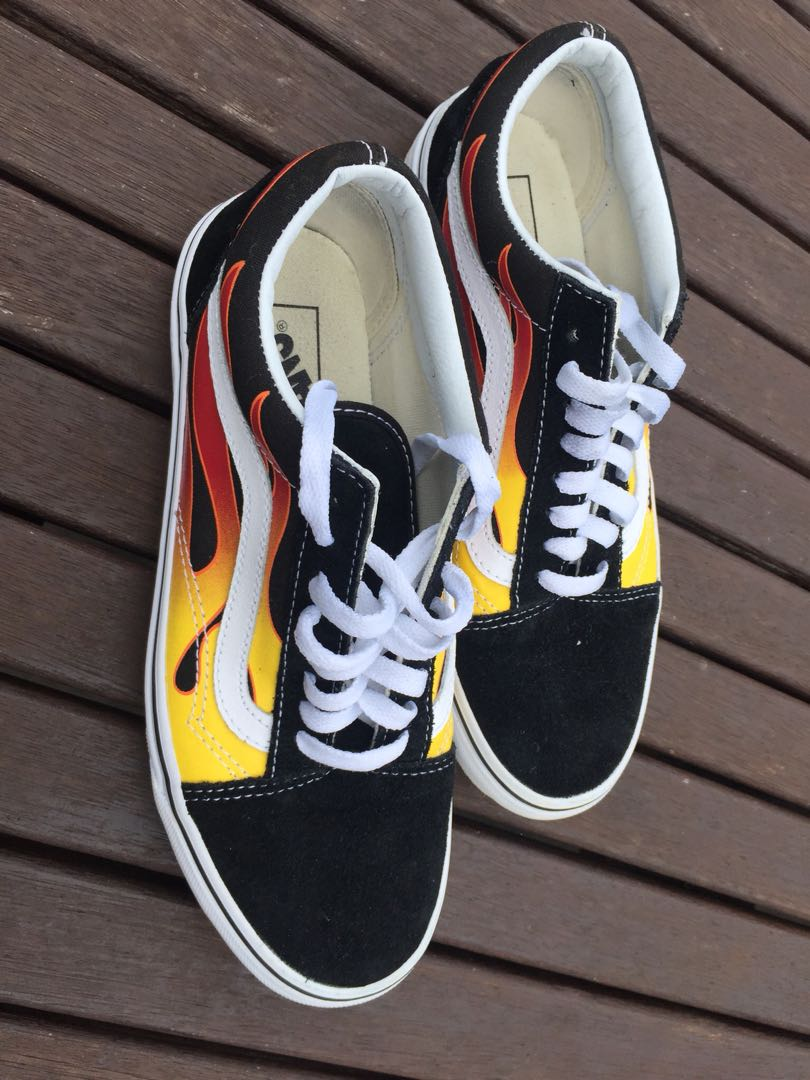 Old Skool Flame Vans