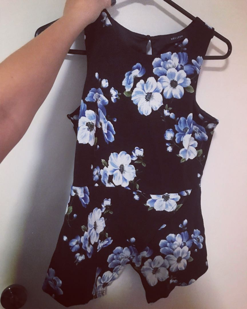 Peplum floral top office wear