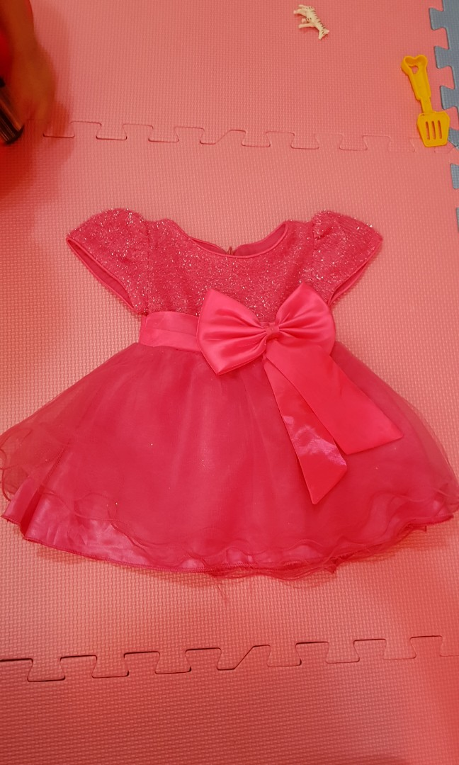 Pink baby gown, Babies & Kids, Babies Apparel on Carousell