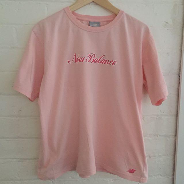 Pink vintage New Balance t shirt
