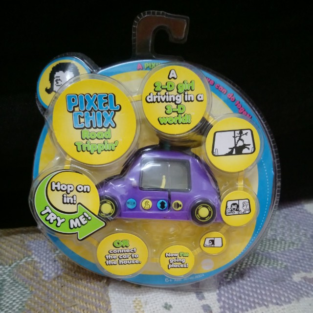 Pixel Chix Purple Car