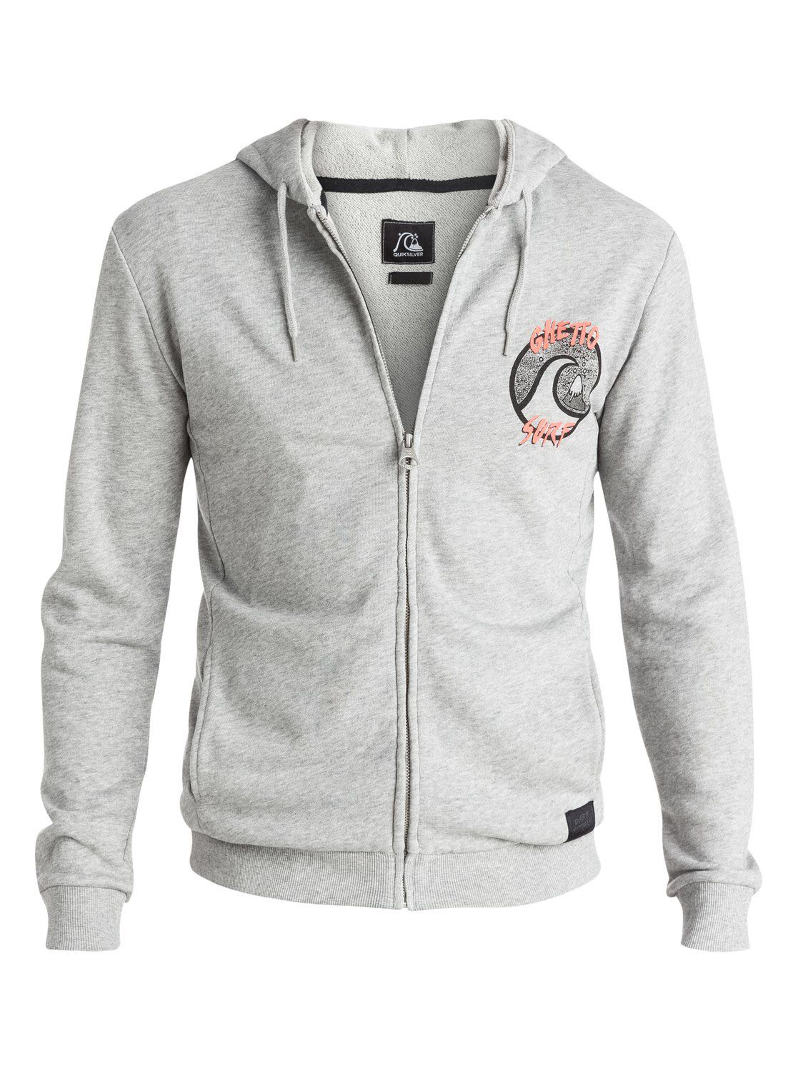 Quiksilver ghetto surf grey hoodie M size