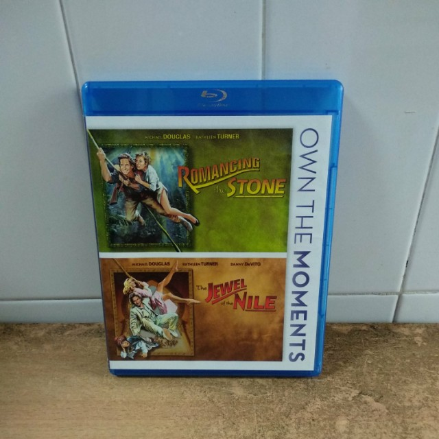 (Reserved) Romancing the Stone & The Jewel of the Nile - Blu Ray - US  import (original) - Both movies for only $15