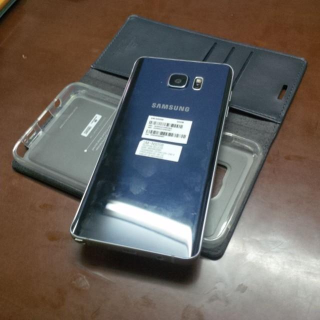 Samsung note 5 black saphire SEIN Dual sim fullset mulus
