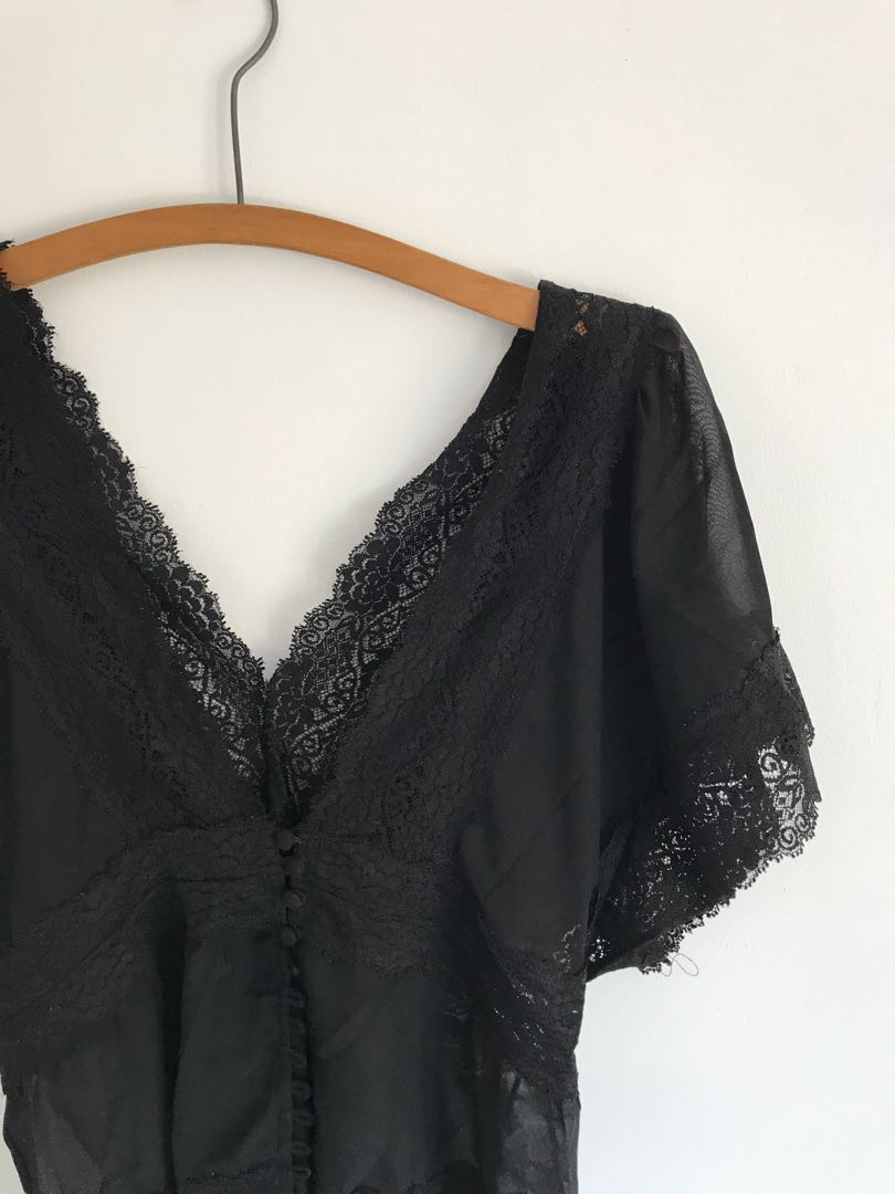 Sheer lace top
