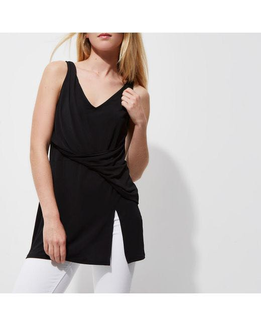 Silky top black wore once