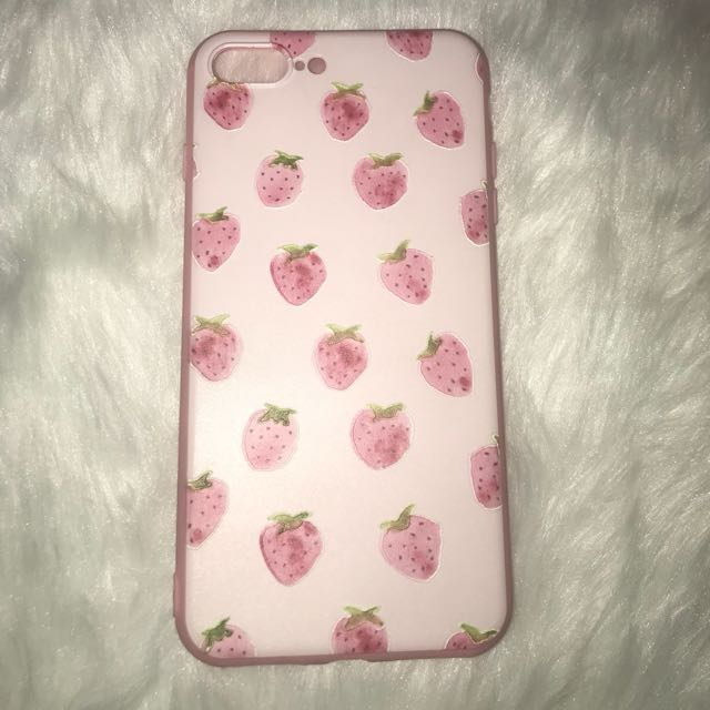 Strawberry Embossed Print Case for Iphone 7plus