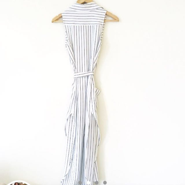 Stripe midi dress / small 8 10